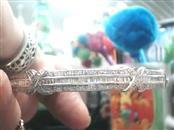Silver-Diamond Bracelet 15 Diamonds .15 Carat T.W. 925 Silver 11.9dwt